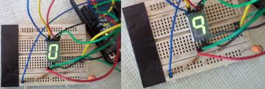 arduino 7 segment led display and counter