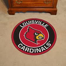Area Rugs Louisville Of Louisville Cardinals Logo Roundel Mat 27