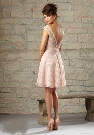 short elegant coral bridesmaid dresses 2016 lace bateau open