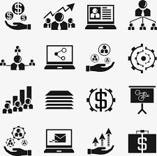 icone de bureau gratuit icône de bureau commun ppt affaires financières solide plat simple