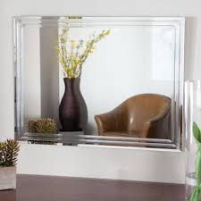 home decoration modern frameless full length bathroom mirror and