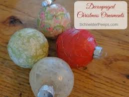 decoupage ornaments tutorial