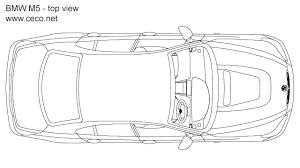 plan view bmw m5 sedan car 5 series top view block in vehicles cars autocad