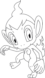 fire pokemon coloring pages chimchar within pokemon coloring pages
