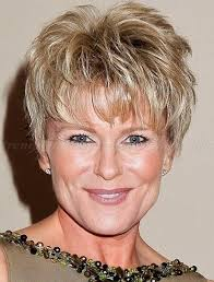 thinning crown short hairstyles short messy hairstyles with bangs for square faces women over 50