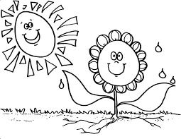 kindergarten coloring pages flower for 533247 coloring pages for