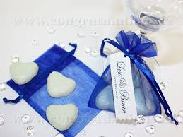Blue Favors by Royal Blue Wedding Centerpieces Pretty Organza Bags Available