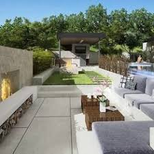 love this backyard with concrete blocks great outdoors