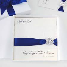 handmade sapphire wedding anniversary cards with the luxury touch