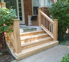 wood outdoor steps improvements and repairs front porch steps