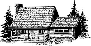 log cabin silhouette clipart clipartix