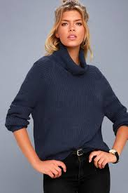 cowl sweater navy blue sweater cowl neck sweater knit sweater