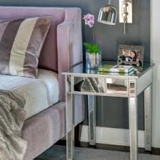 Mirrored Nightstand Cheap Innovative Mirrored Nightstand Concept With White And Mirror