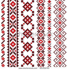 traditional folk knitted embroidery stock vector