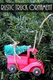 diy ornament idea rustic tree truck darice