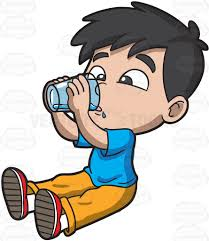 drink vector a thirsty young boy drinking water cartoon clipart vector toons