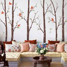birch tree wall decals sticker set thin birch tree wall decal