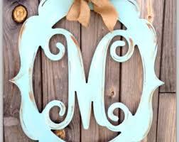 Door Monogram Decoration Monogram Door Hanger Wedding Monogram Letter Door Hanger