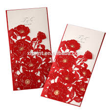 chinese red wedding invitation card printing wedding place card
