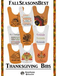 check out the variety of custom thanksgiving baby bibs for