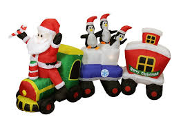 Christmas Yard Decorations Home Depot by Christmas Inflatables Decorations Display Santa Claus Snowman
