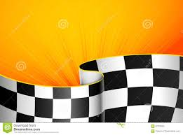 Checkered Flag Eps Yellow Racing Background Stock Vector Illustration Of Check