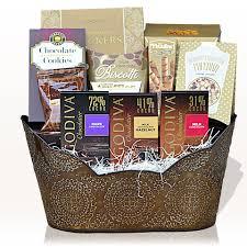 christmas gift basket godiva chocolate indulgence gift basket gifts azelegant