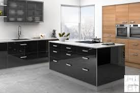 meuble cuisine noir laqué meuble de cuisine noir laqué maison et meuble de maison