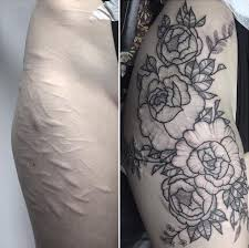 finished cover up tattoo scar conceal pinterest