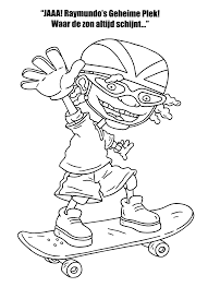 coloring page rocket power coloring pages 12