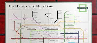 underground map underground map of gin the gin club