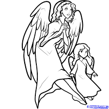 draw christmas angels christmas angels step by step drawing