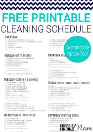 printable house cleaning schedule free printable cleaning schedule pin1 jpg