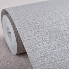 aliexpress com buy simple modern faux linen fabric wallpaper