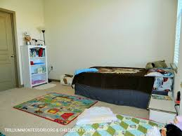 What Is A Montessori Bedroom Small Space Montessori Setup Children U0027s Room And Closet