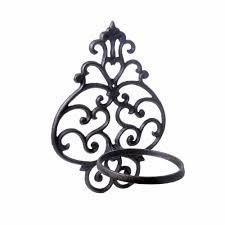 magnetizing single black metal carving plant pot holder luxor decor