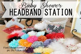 how to make a baby headband shower headband station the ribbon retreat