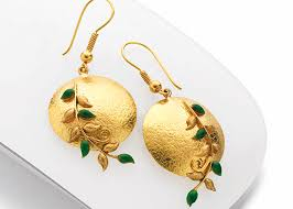 s gold earrings buy gold earrings in pune p n gadgil and sons