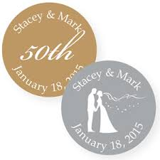 Stickers For Favors by Wedding Anniversary Silhouette Personalized Labels 20