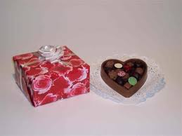 chocolate heart candy chocolates in chocolate heart dish by michael mootz candies