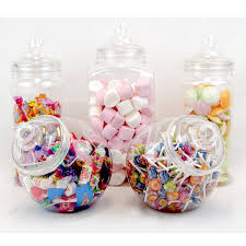 Plastic Candy Containers For Candy Buffet by 5 Large Retro Plastic Jars Candy Buffet Sweet Shop Wedding Kids