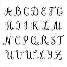 fancy letter templates best template collection