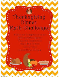 thanksgiving dinner math challenge whole numbers and money with
