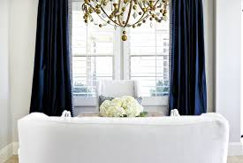 Navy Window Curtains Wonderful Navy Blue Silk Curtains 98 In With Window Eco Friendly