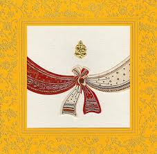 hindu wedding cards hindu wedding cards hu1996 metallic finish paper with design print