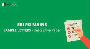 letter samples for sbi po mains descriptive paper testbook blog