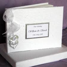 personalised wedding guest book wedding guest book casadebormela