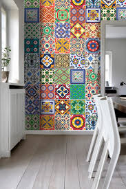 Kitchen Backsplash Decals by Wall Art Tiles Decor Mexican Talavera Special Stickers Pack With