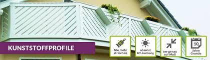 balkon paneele kunststoffprofile für ihren balkon stückware auf maß