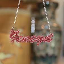 acrylic name necklace script acrylic nameplate necklace purple mermaid designs